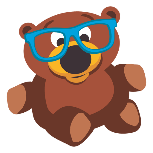 Teddy bear doll with glasses Transparent PNG