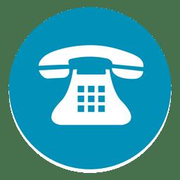 Telefone, redondo, ícone