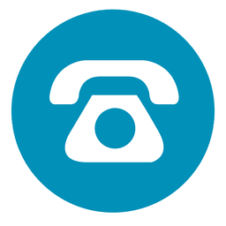 Icono de teléfono redondo 1