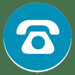 Teléfono icono redondo 1