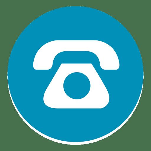 Telefone rodada ícone 1 Transparent PNG