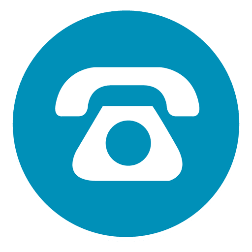 Telephone round icon 1 Transparent PNG