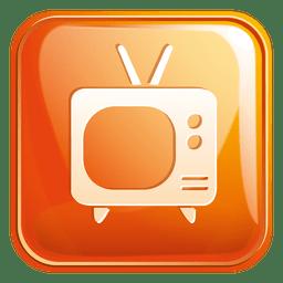 Ícone quadrado de televisão 3