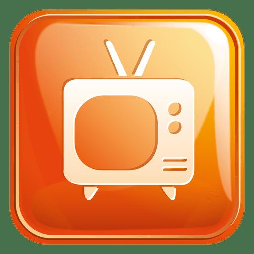 Icono cuadrado de televisión 3 Transparent PNG