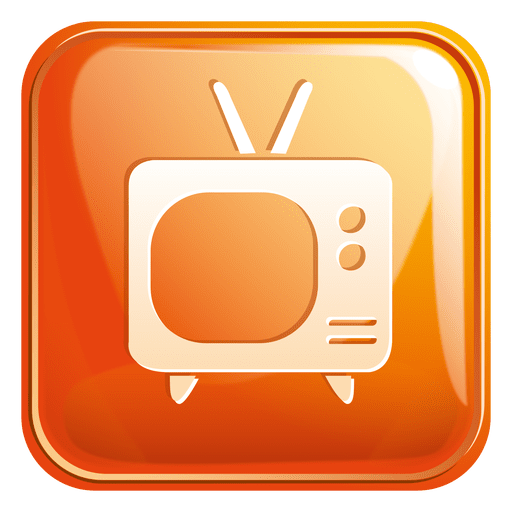 Television square icon 3 Transparent PNG