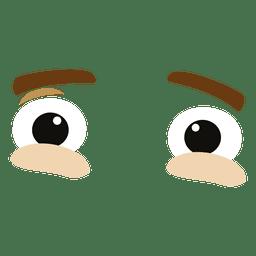 Tensada expresión ocular