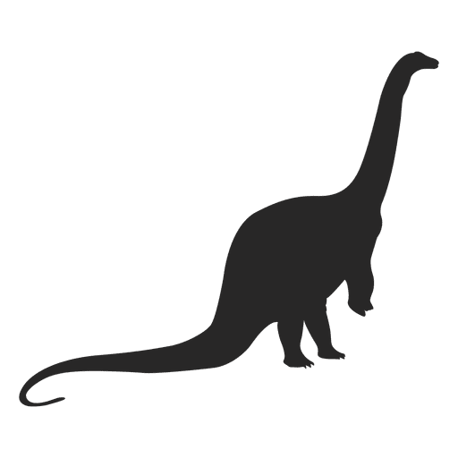 Silueta de titanosaurio Transparent PNG