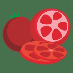 Dibujos animados de tomates