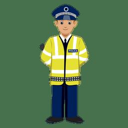 Desenhos animados de polícia de trânsito