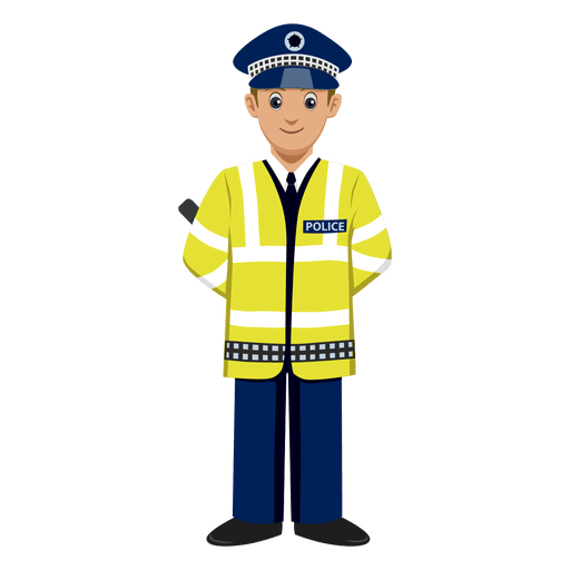 Traffic police cartoon Transparent PNG