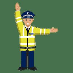 Sinalização da polícia de trânsito
