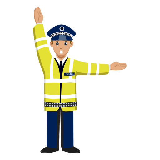 Traffic police signalling Transparent PNG