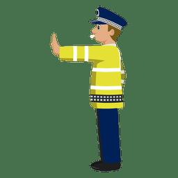 Polícia de trânsito sinalizando 1