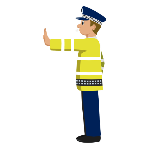Traffic police signalling 1 Transparent PNG