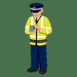 Traffice notas polícia de escrita