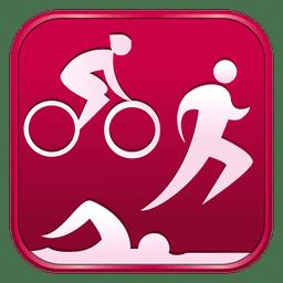 Triathlon-Quadrat-Symbol
