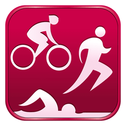 Triathlon square icon