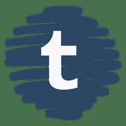 Tumblr distorted round icon
