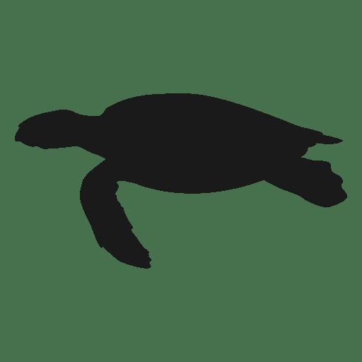 Tortuga marina nadando silueta Transparent PNG