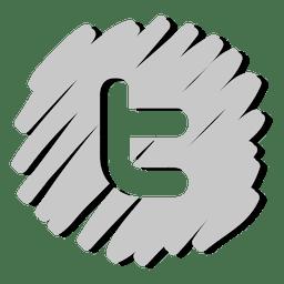 Twitter distorcida ícone