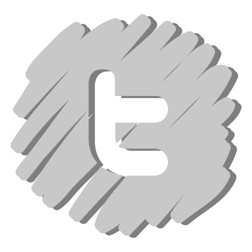 Twitter distorted icon Transparent PNG