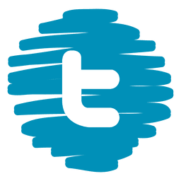 Twitter distorcida ícone redondo
