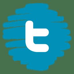 Twitter distorsionada icono ronda