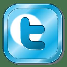 Botão metálico do Twitter