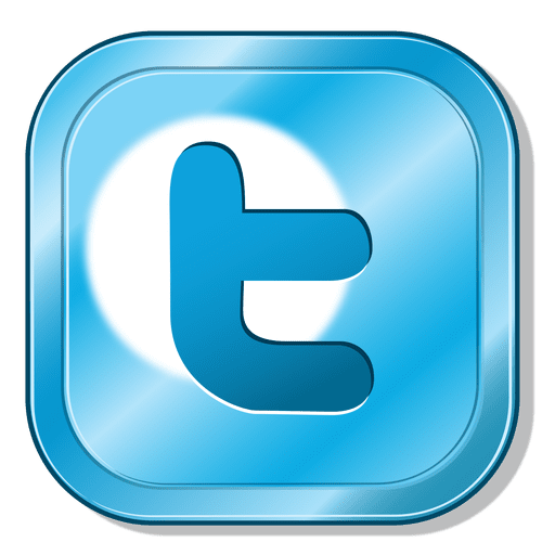 Twitter metallic button Transparent PNG