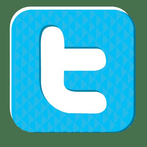 Icono de goma de Twitter Transparent PNG