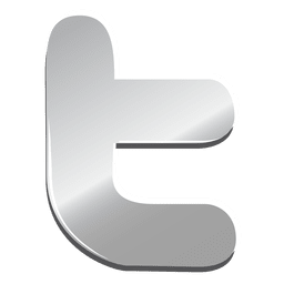 Icono de Twitter de plata