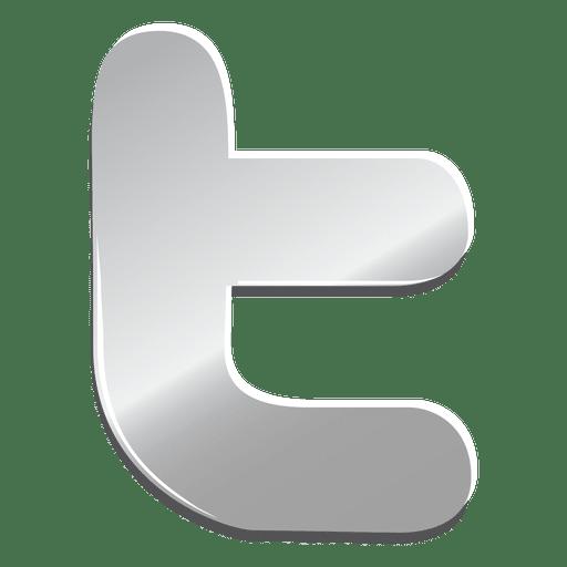 Icono de Twitter de plata Transparent PNG