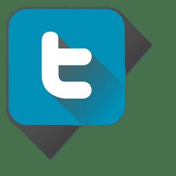 Twitter-Symbol im Quadrat