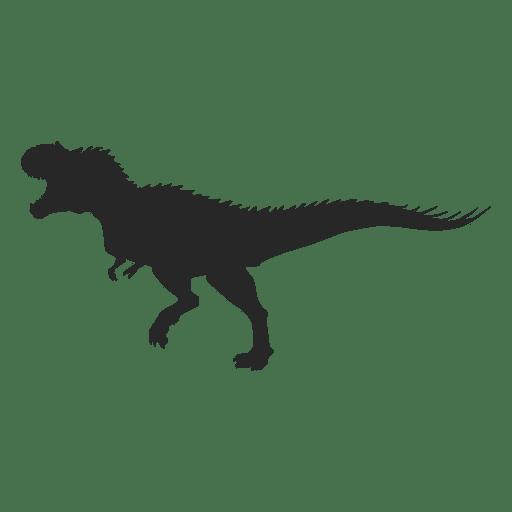 Silueta de tiranosaurio
