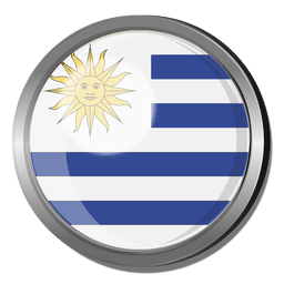 Uruguay flag badge