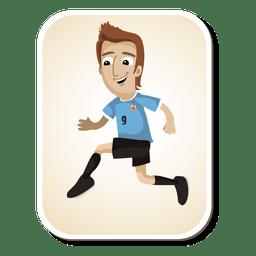 Uruguaio jogador de futebol dos desenhos animados