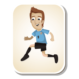 Uruguya football player cartoon