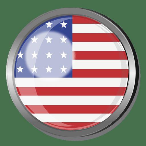 Insignia de la bandera de Estados Unidos Transparent PNG