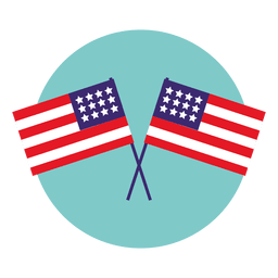 Usa flags round icon