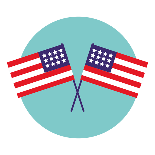 Usa flags round icon Transparent PNG