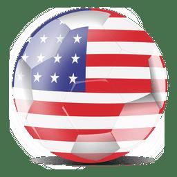 Bandera de fútbol de Estados Unidos