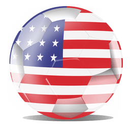 Bandera de fútbol de los eeuu