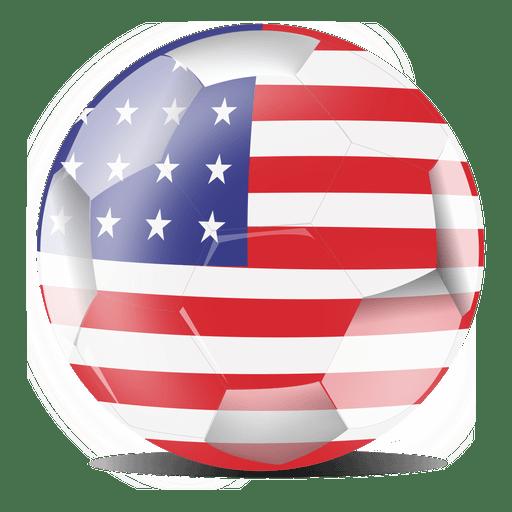 Bandeira do futebol dos EUA Transparent PNG