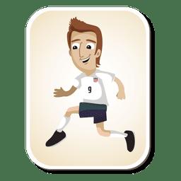 jugador de fútbol de dibujos animados EE.UU.