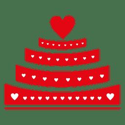 pastel de San valentín