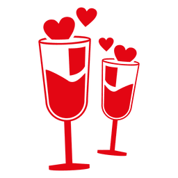 vasos chamaign Valentine