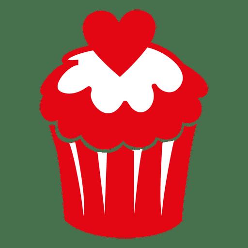 Valentine cupcake Transparent PNG