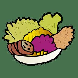 Dibujos animados de vegetales