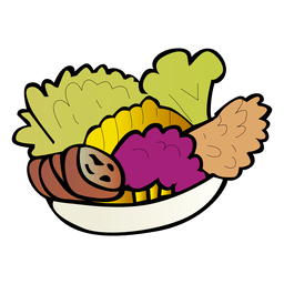 Vegetable cartoon