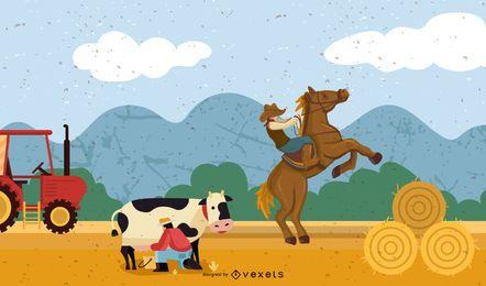 Granja de caballos